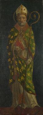 Style of Ambrogio Bergognone: 'Saint Ambrose (?)'