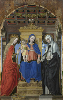 Ambrogio Bergognone: 'Virgin and Child with Saints'.