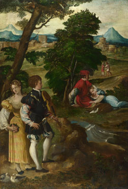 Attributed to Bernardino da Asola: 'The Garden of Love'