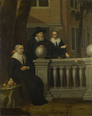 Jan van Bijlert: 'Portrait of an Elderly Man and Two Women'