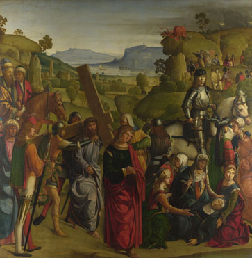 Boccaccio Boccaccino: 'Christ carrying the Cross and the Virgin Mary Swooning'