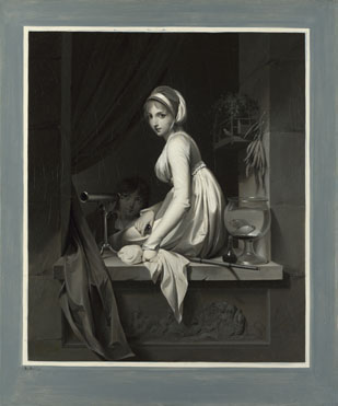 Louis-Léopold Boilly: 'A Girl at a Window'