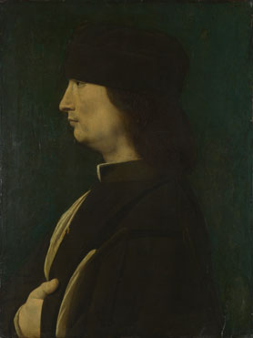 Giovanni Antonio Boltraffio: 'A Man in Profile'