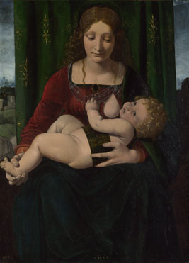 Giovanni Antonio Boltraffio: 'The Virgin and Child'