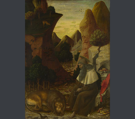 Bono da Ferrara, Saint Jerome in a Landscape