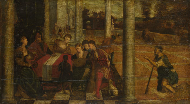 After Bonifazio di Pitati: 'Dives and Lazarus'