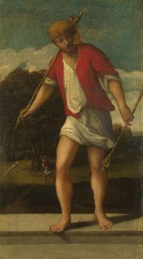 Studio of Bonifazio di Pitati: 'A Huntsman'