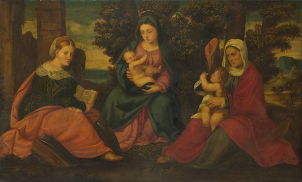 Style of Bonifazio di Pitati: 'The Madonna and Child with Saints'