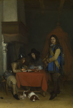 Gerard ter Borch: 'An Officer dictating a Letter'