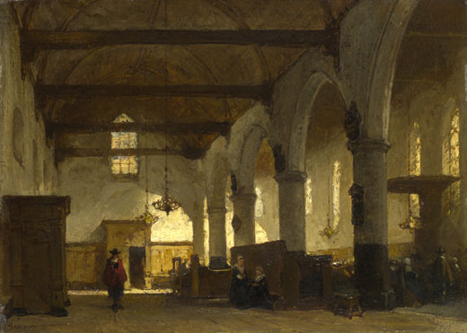 Johannes Bosboom: 'The Interior of the Bakenesserkerk, Haarlem'