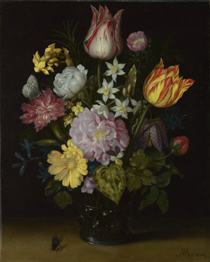 Ambrosius Bosschaert the Elder: 'Flowers in a Glass Vase'