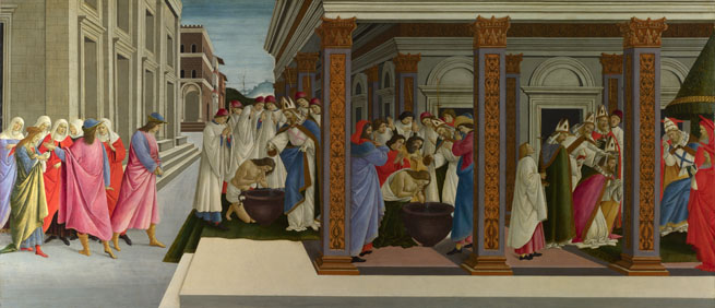 Sandro Botticelli: 'Four Scenes from the Early Life of Saint Zenobius'