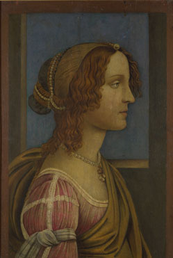 Follower of Sandro Botticelli: 'A Lady in Profile'