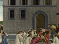 Sandro Botticelli: Detail of the palace in the background from 'Three Miracles of Saint Zenobius'.