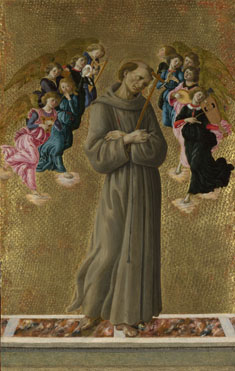 Sandro Botticelli: 'Saint Francis of Assisi with Angels'