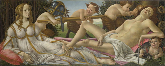 Sandro Botticelli: 'Venus and Mars'