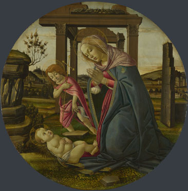 Workshop of Sandro Botticelli: 'The Virgin and Child with Saint John the Baptist'