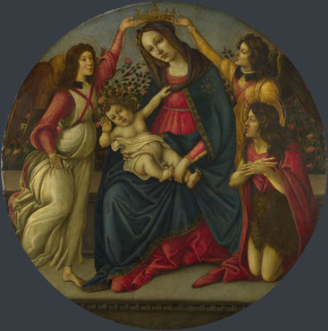 Workshop of Sandro Botticelli: 'The Virgin and Child with Saint John and Two Angels'