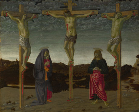 Attributed to Francesco Botticini: 'The Crucifixion'