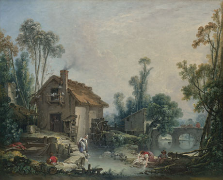 François Boucher: 'Landscape with a Watermill'