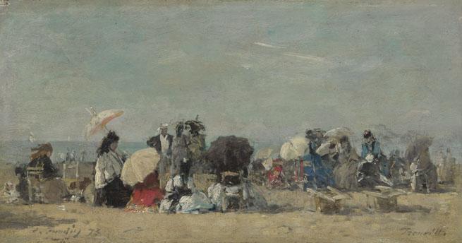 Eugène Boudin: 'Beach Scene, Trouville'