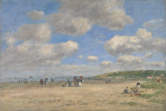 Eugène Boudin: 'The Beach at Tourgéville-les-Sablons'