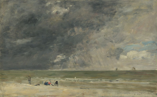Eugène Boudin: 'Beach at Trouville'