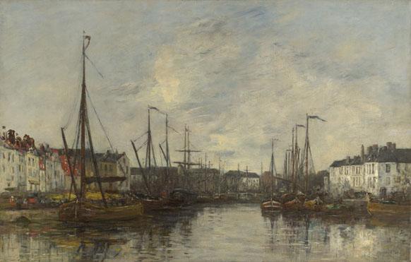 Eugène Boudin: 'Brussels Harbour'