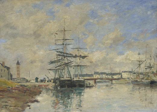 Eugène Boudin: 'Deauville Harbour'