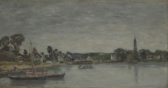 Eugène Boudin: 'L'Hôpital-Camfrout, Brittany'