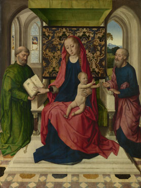Workshop of Dirk Bouts: 'The Virgin and Child with Saint Peter and Saint Paul'