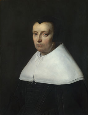 Jan de Braij: 'Portrait of a Woman with a Black Cap'