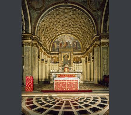 Donato Bramante: Interior view of Santa Maria Presso San Satiro, Milan.