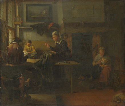 Quiringh van Brekelenkam: 'Interior of a Tailor's Shop'