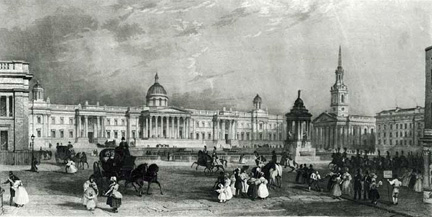 Engraving of National Gallery from the original designs (about 1837)