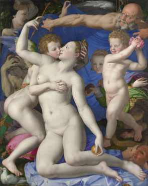 Bronzino: 'An Allegory with Venus and Cupid'