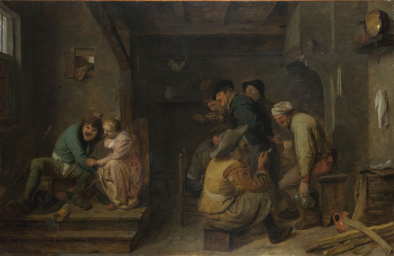 Adriaen Brouwer: 'Tavern Scene'