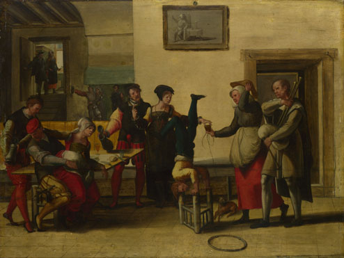 After The Brunswick Monogrammist (?): 'Itinerant Entertainers in a Brothel'
