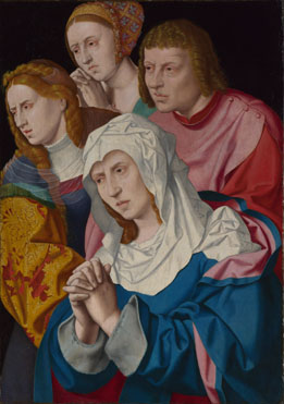 Bartholomeus Bruyn the Elder: 'The Virgin, Saints and a Holy Woman'