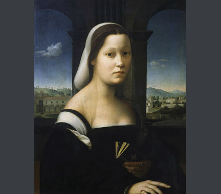 Attributed to Giuliano Bugiardini: 'Portrait of a Woman'.