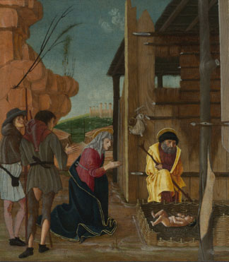 Attributed to Bernardino Butinone: 'The Adoration of the Shepherds'