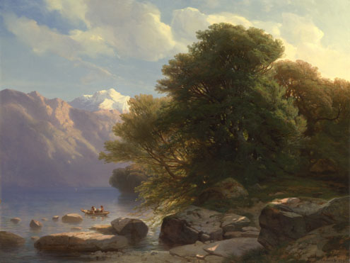 Alexandre Calame: 'The Lake of Thun'