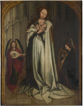 After Robert Campin: 'The Virgin and Child in an Apse with Two Angels'