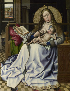 Follower of Robert Campin: 'The Virgin and Child before a Firescreen'