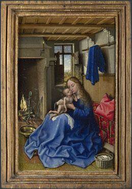 Workshop of Robert Campin (Jacques Daret?): 'The Virgin and Child in an Interior'