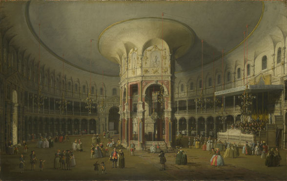 Canaletto: 'London: Interior of the Rotunda at Ranelagh'