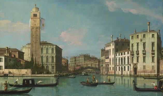 Studio of Canaletto: 'Venice: Entrance to the Cannaregio'