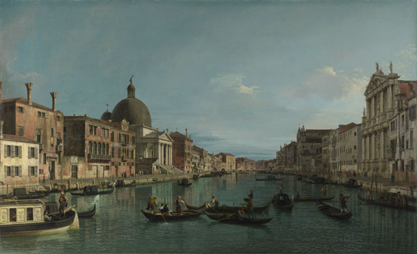 Canaletto: 'Venice: The Grand Canal with S. Simeone Piccolo'