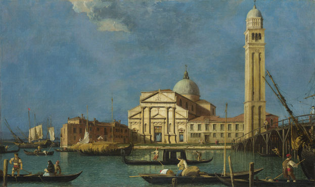 Studio of Canaletto: 'Venice: S. Pietro in Castello'