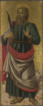Attributed to Bartolomeo Caporali: 'Saint Bartholomew'